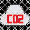 Carbon Dioxide Co 2 Cloud Icon