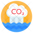 Co 2 Carbon Dioxide Cloud Emission Icon