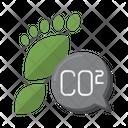 Carbon Footprint Carbon Footprint Carbon Dioxide Icon
