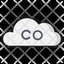 Cloud Pollution Carbonmonoxide Icon