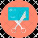 Card Scissor Bankruptcy Icon