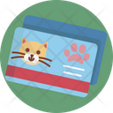 Card Cat Paws Icon