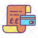 Mpayment Receipt Card Bill Payment Card Bill Icon