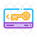 Electronic Card Key Icon
