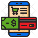 Mobilephone Shopping Payment Icon