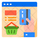 Credit Card Shopping Busket Icon