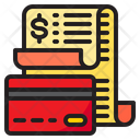 Card Payment Bill Receipt Icon