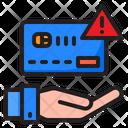 Credit Card Shopping Error Icon