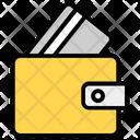 Card Wallet Purse Billfold Wallet Icon