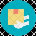 Cardboard Box Delivering Icon