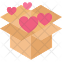 Cardboard Box Freight Gift Icon