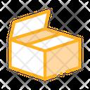 Cardboard Transportation Box Icon