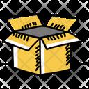 Cardboard Box Open Box Packaging Icon