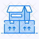 Cardboard Boxes Packaging Packing Box Icon