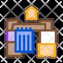 Homeless Cardboard House Icon