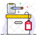 Cardboard Label Delivery Label Box Tag Icon