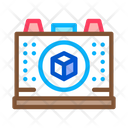 Cardboard Recycling Plant Icon