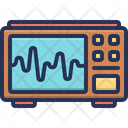 Electronicardiogram Medical Machine Icon
