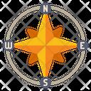Cardinal Directions Compass Navigation Icon