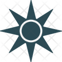 Cardinal Points Compass Compass Rose Icon