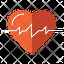 Cardio Heart Beat Ecg Heartbeat Icon