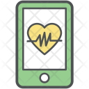 Cardiogram On Mobile Icon