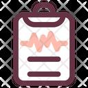Cardiogram Diagnosis Healthcare Icon