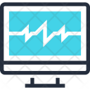 Cardiogram Computer Diagnostic Icon
