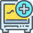 Cardiogram Medical Machine Icon