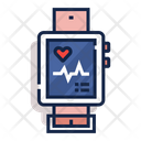 Cardiogram Smartwatch Device Icon