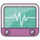 Cardiogram Heat Pulse Icon