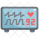 Monitor Heart Pulse Icon