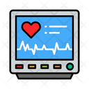 Monitor Electronic Cardiogram Machine Cardiogram Monitor Icon