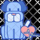 Cardiology Dog Cardiology Pet Cardiology Icon