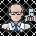 Cardiopulmonologist White Male Cardiopulmonologist White Icon