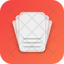 Cards Neumorphism Interface Icon