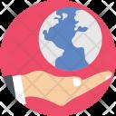Globe Hand Earth Icon