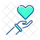 Care Hand Heart Icon