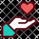 Love Care Hand Icon