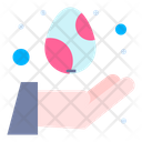 Care Easter Day Egg Icon