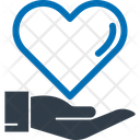 Care Sign Hand Heart Icon