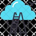 Career Ladder Cloud Icon