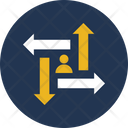 Career Chances Career Opportunity Option Arrows Icon
