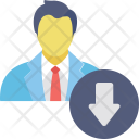 Career Demotion Degradation Icon