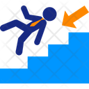 Career Fall Stairs Icon