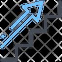 Career Finance Up Arrow Ladder Icon