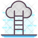 Career Ladder Cloud Computing Cloud Technology Icon