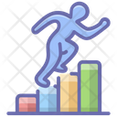 Career Ladder Competition Concept Career Path Icon