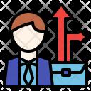 Career Path Growth Icon