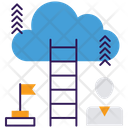 Success Ladder Ladder To Cloud Competition Concept Icon